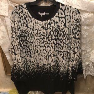 NWT sz 3x Calvin Klein long black tunic